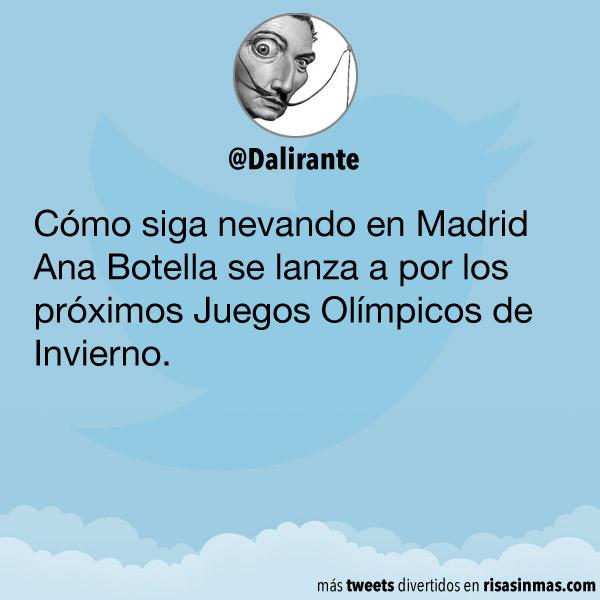 Nevando en Madrid