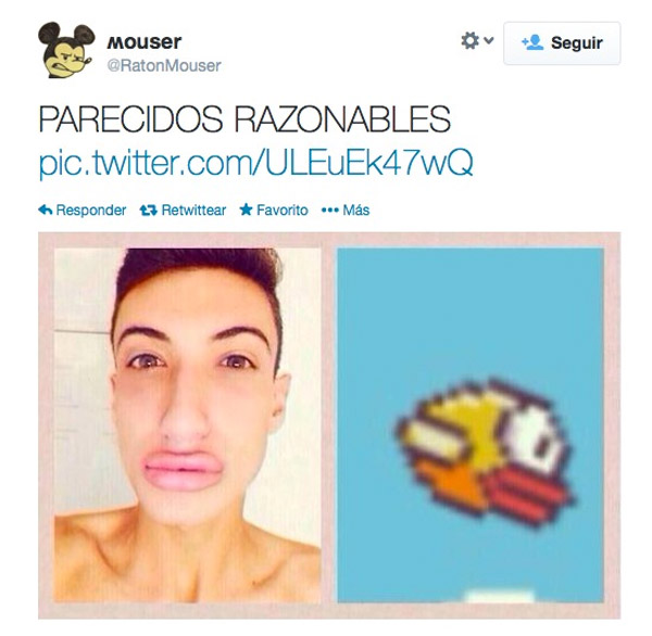 Parecidos razonables: Flappy Bird