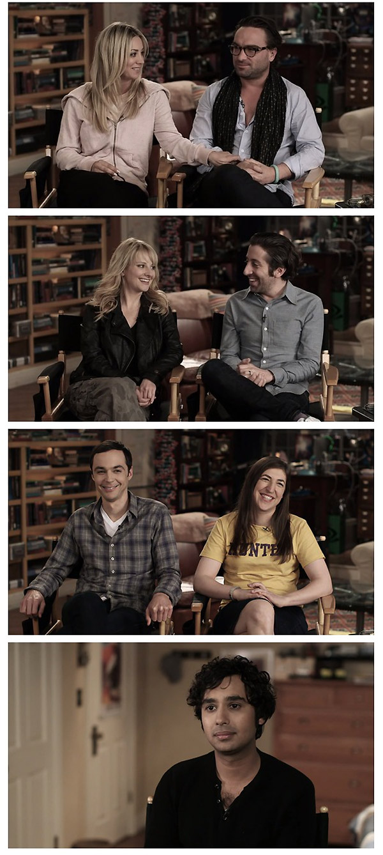 Parejas de The Big Bang Theory
