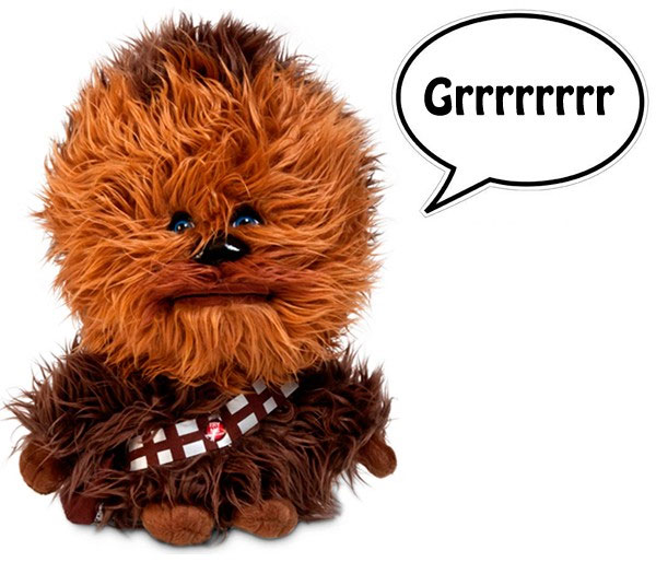 Peluche de Chewbacca con sonido
