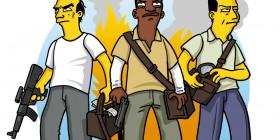 Personajes de GTA 5 simpsonizados