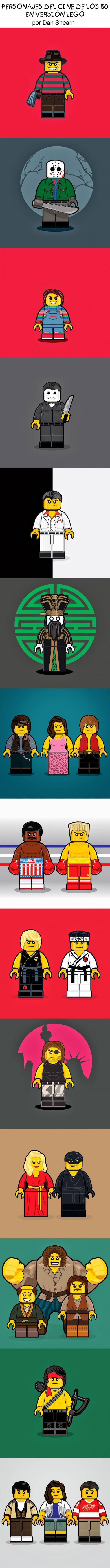 Personajes del cine de los 80 versión LEGO