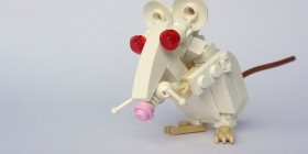 Ratón hecho con LEGO