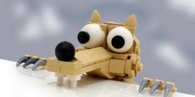 Scrat (Ice Age) hecho con LEGO