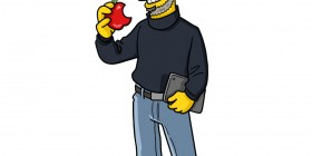 Steve Jobs simpsonizado