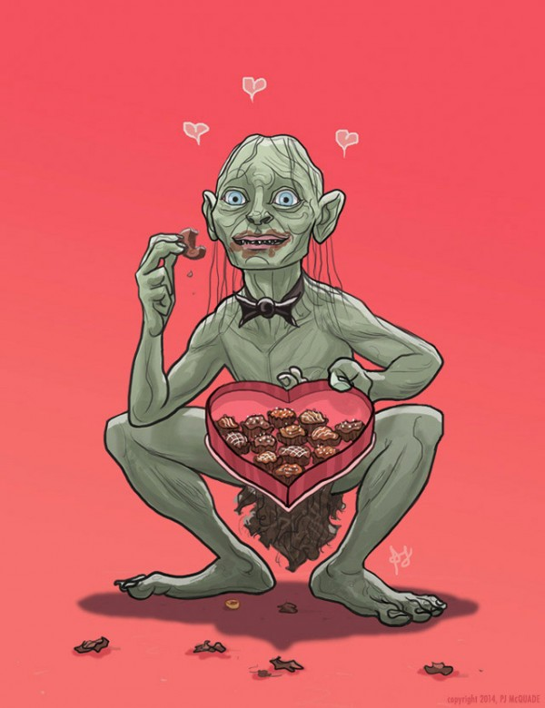 Tarjeta para San Valentín: Gollum