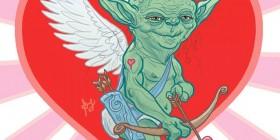 Tarjeta para San Valentín: Cupido Yoda