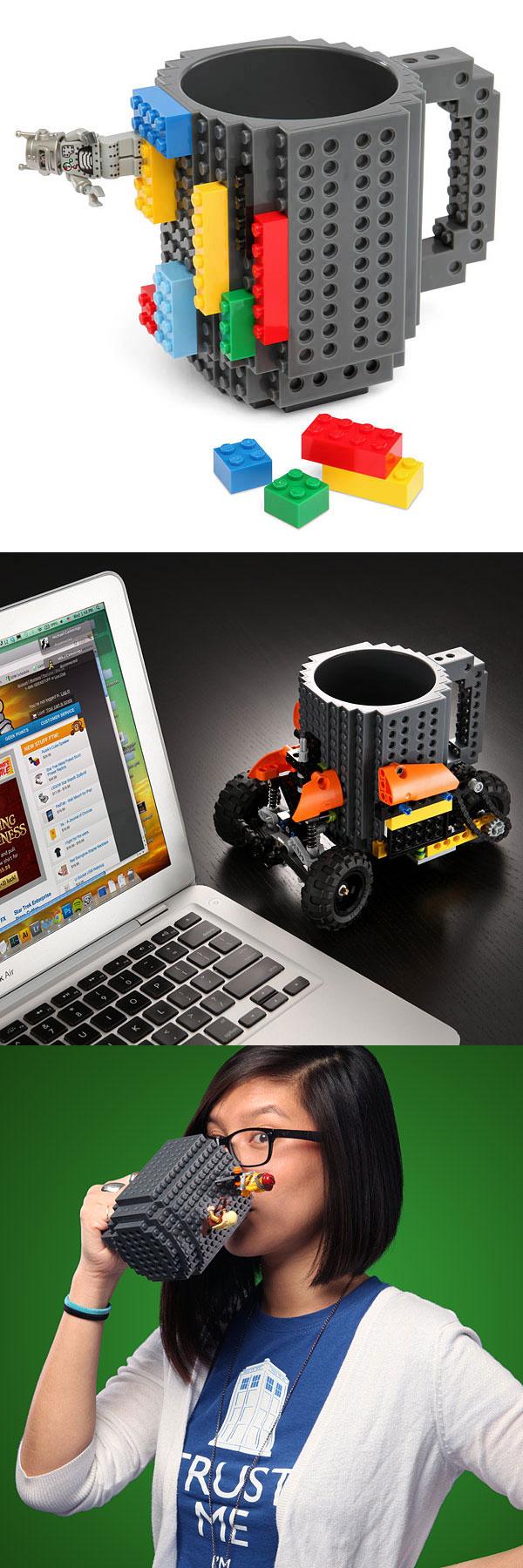 Taza de ladrillos de LEGO