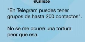 Telegram y los grupos de 200 contactos