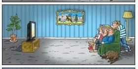 Televisores delgados y gente obesa