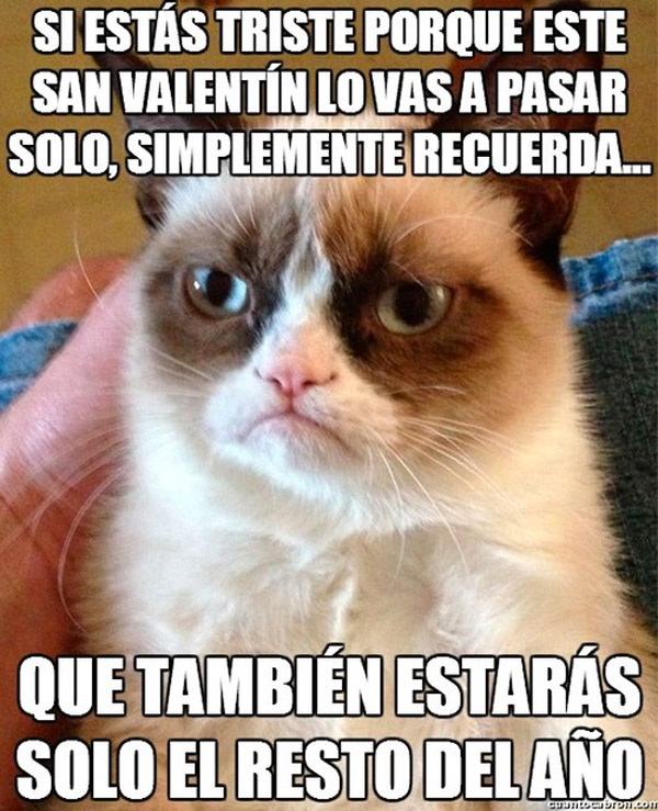 Triste por estar solo en San Valentín