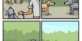 Universo paralelo de perros y hombres