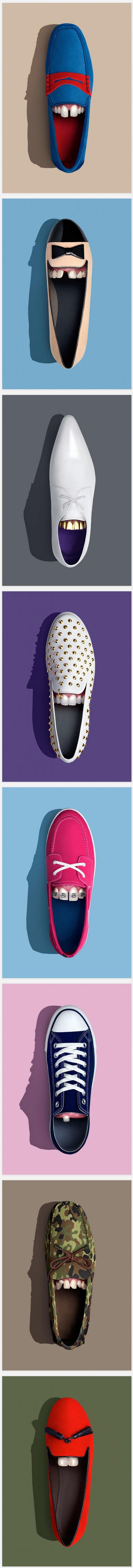 Zapatos con dientes