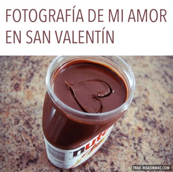 Fotografía de mi amor en San Valentín