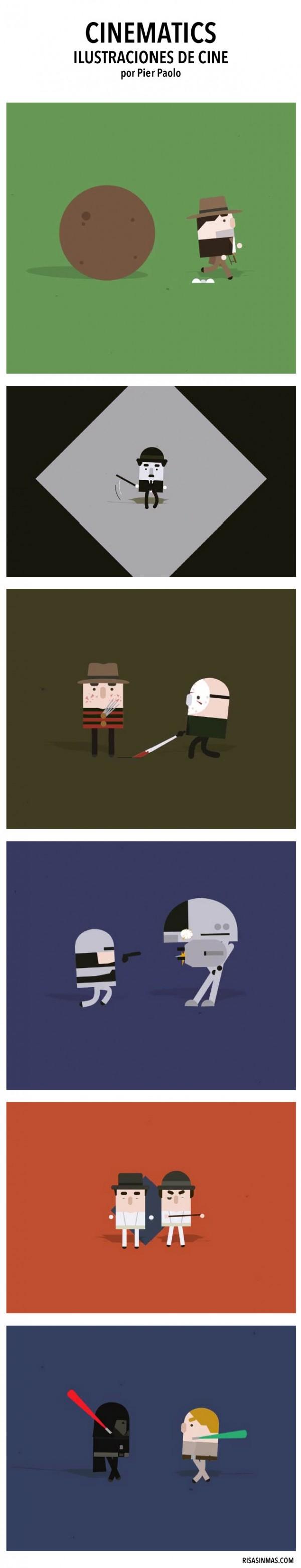 Cinematics, ilustraciones de cine