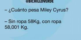 ¿Cuánto pesa Miley Cyrus?