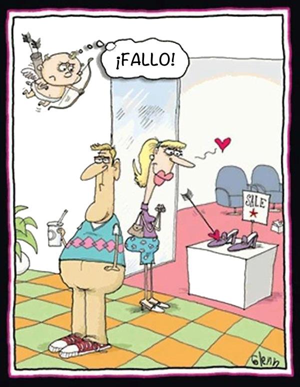 Si te gustan los zapatos la culpa es de Cupido