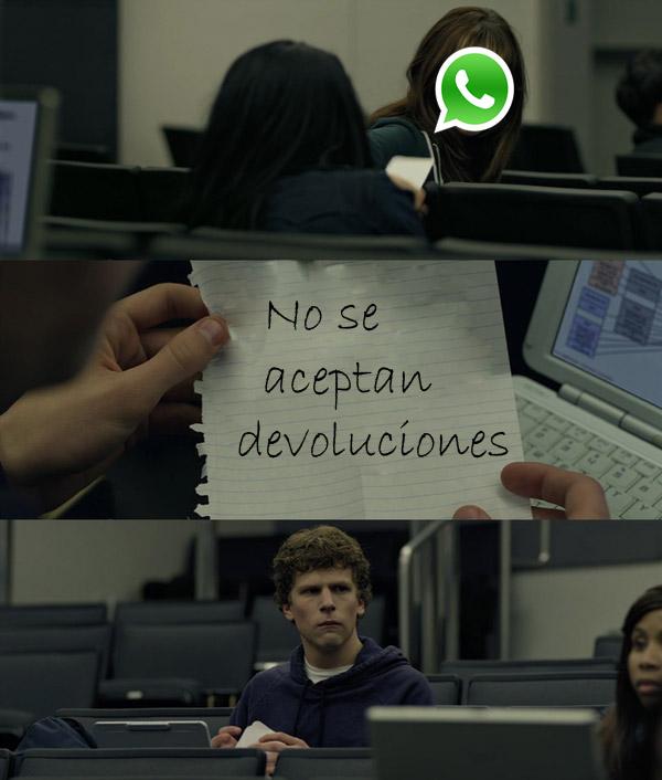 No se aceptan devoluciones de WhatsApp