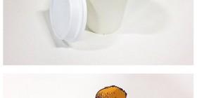 Ilustraciones creativas con comida