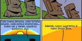 ¿Cansado de ser un moai?