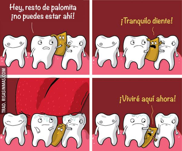 Palomitas entre tus dientes
