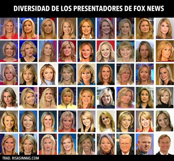 Diversidad de los presentadores de Fox News