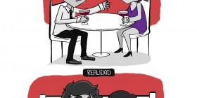 San Valentín: expectativa vs. realidad