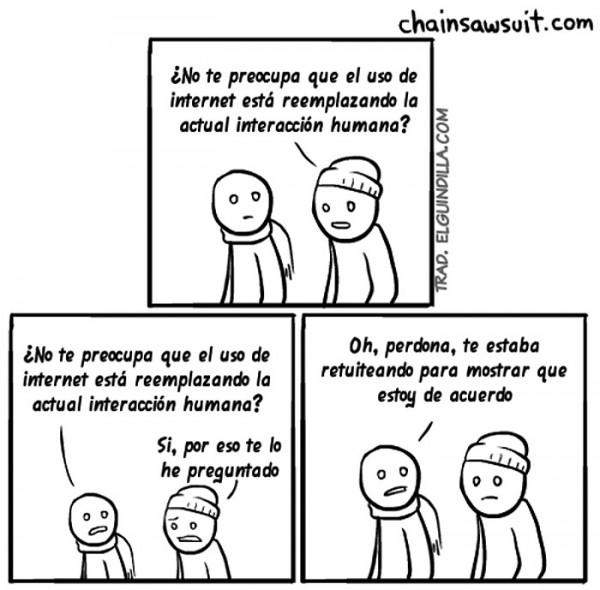 El uso de Internet reemplaza la interacción humana