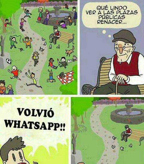 WhatsApp de nuevo online