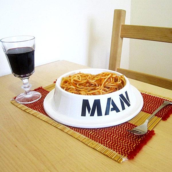 Bol de comida para hombres