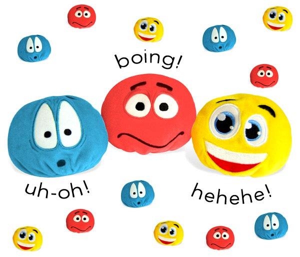 Bolas emoticonos con sonido
