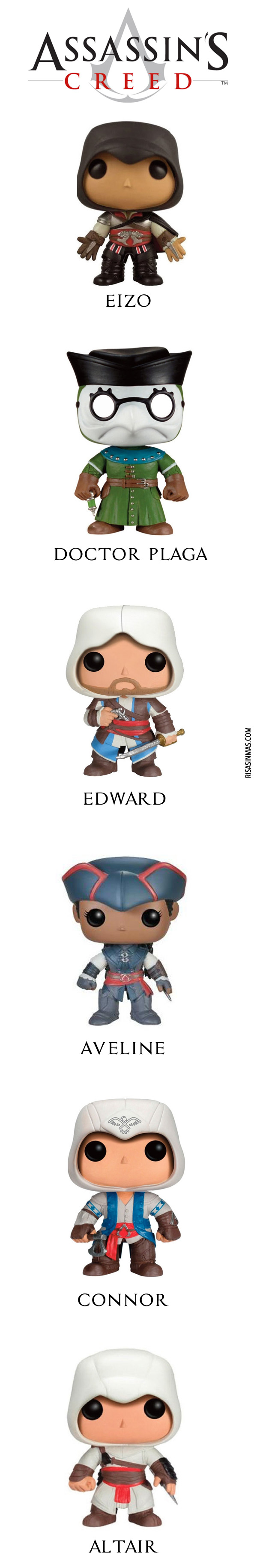 Cabezones de Assassin's Creed