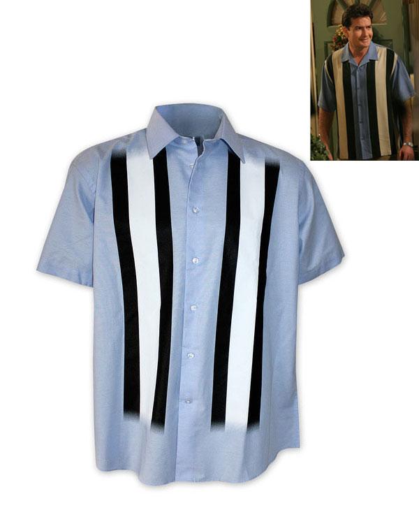Camisa Charlie Harper. Dos hombres y medio
