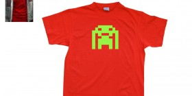 Camiseta The Big Bang Theory. Space Invaders