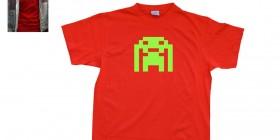 Camiseta The Big Bang Theory. Space Invaders