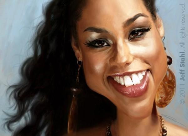 Caricatura de Alicia Keys