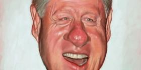 Caricatura de Bill Clinton
