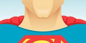 Caricatura de Christopher Reeve como Superman