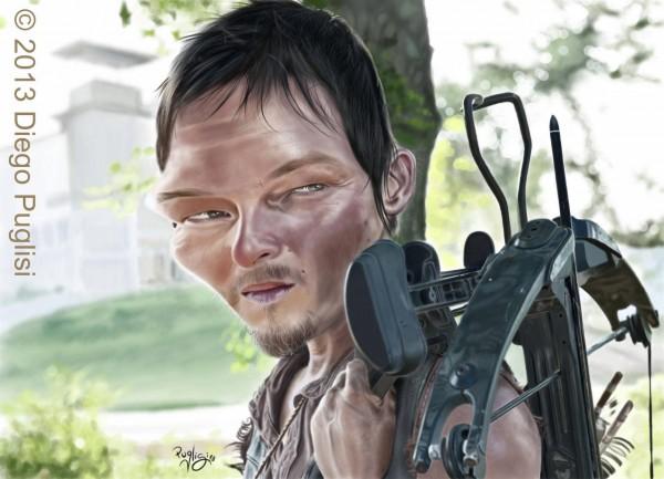 Caricatura de Daryl Dixon