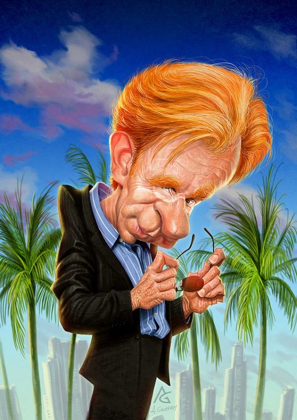 Caricatura de David Caruso como Horatio