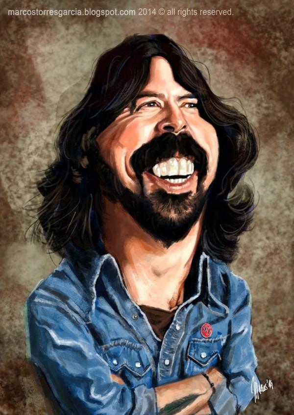 Caricatura de David Grohl