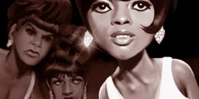 Caricatura de Diana Ross & The Supremes