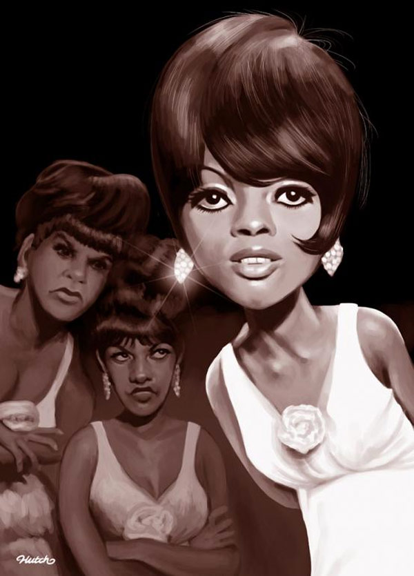 Caricatura de Diana Ross & The Supremes