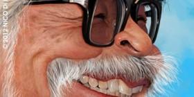 Caricatura de Hayao Miyazaki
