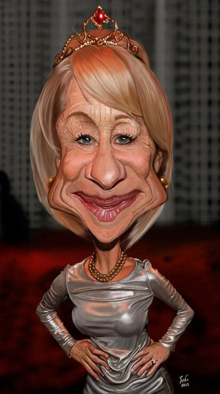 Caricatura de Helen Mirren