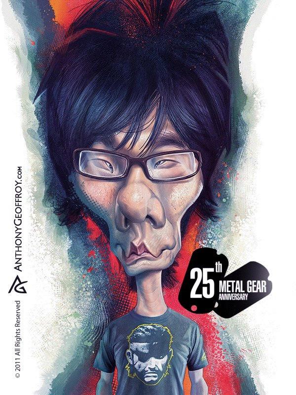 Caricatura de Hideo Kojima