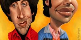 Caricatura de Howard Wolowitz y Rajesh Koothrappali