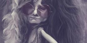 Caricatura de Janis Joplin