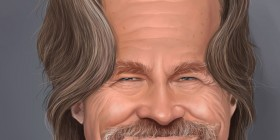 Caricatura de Jeff Bridges