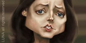 Caricatura de Jodie Foster